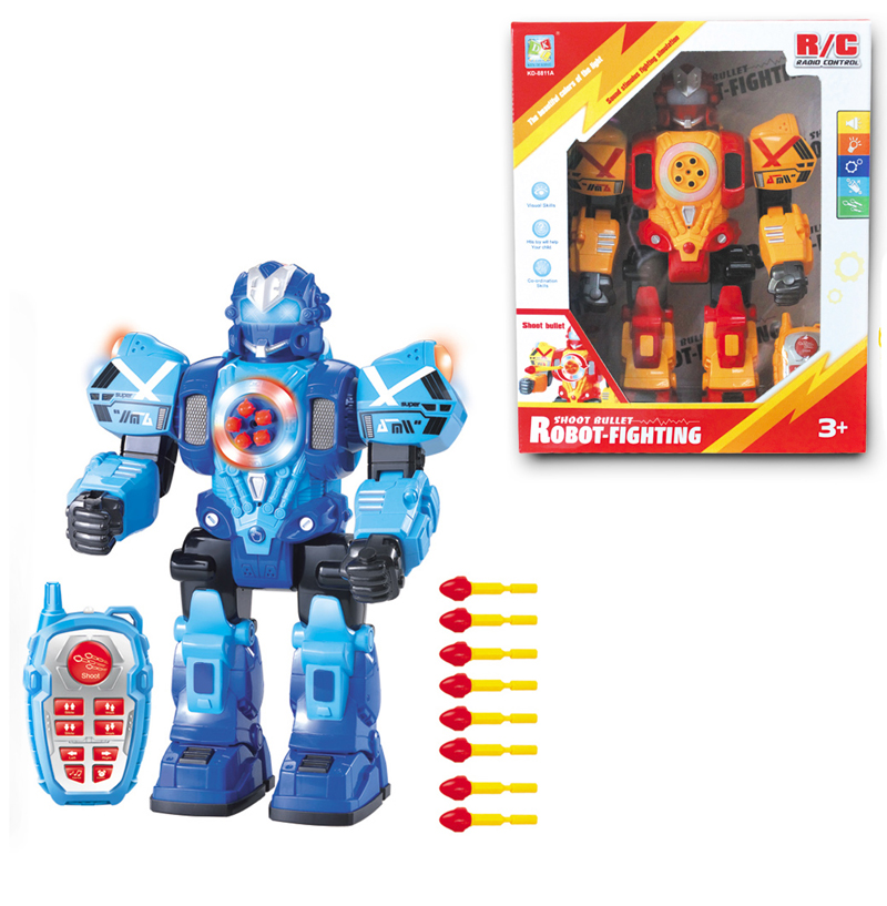 2015 New Arrival Musical RC Robot Toy Intelligent Robotic Robot Shoot Missile RC Remote Control Toys For Children Boys Gifts(China (Mainland))