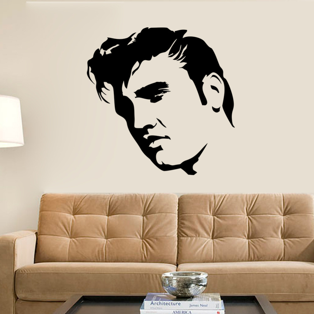 Elvis presley large bedroom wall mural art sticker stencil for Boys room wall mural