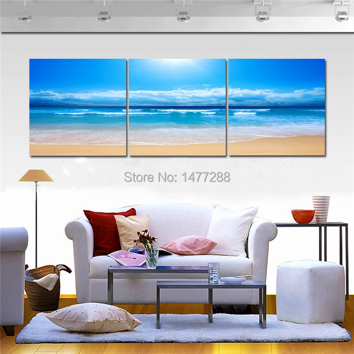 Decorative art pictures oil painting printed on canvas for Piece of living room decor