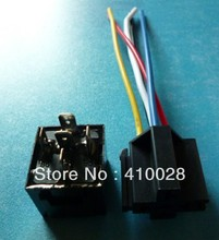 In stock Car Auto Truck 12V 12 Volt DC with LED 5pin 40A AMP Relay & plastic  Socket SPDT 5Pin(China (Mainland))