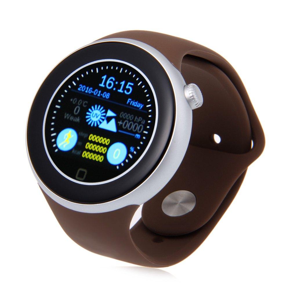 AIWEAR C1 Dual Bluetooth Heart Rate Track 1.22 inch Smart Watch with Siri Gesture Control Flashlight Calculator IP67 Waterproof(China (Mainland))