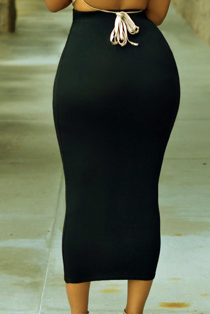Solid-Black-High-waisted-Bodycon-Maxi-Skirt-LC71188-2-4