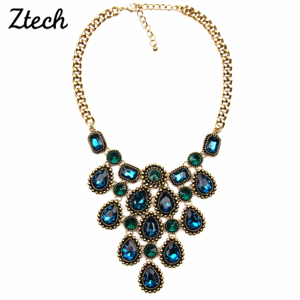 2016 Costume Z Design Chunky Choker Flower Collar Necklace Statement Necklaces Women Fashion Glass & Pendants - Her Luxury Jewelry Store store