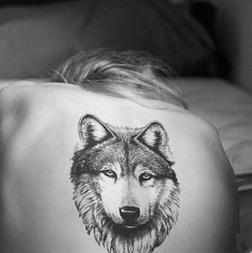 Min order is $5 Waterproof Temporary Fake Tattoo Stickers Sexy Cool 3D Large Wolf Animals Design Back Body Art Make Up Tool(China (Mainland))