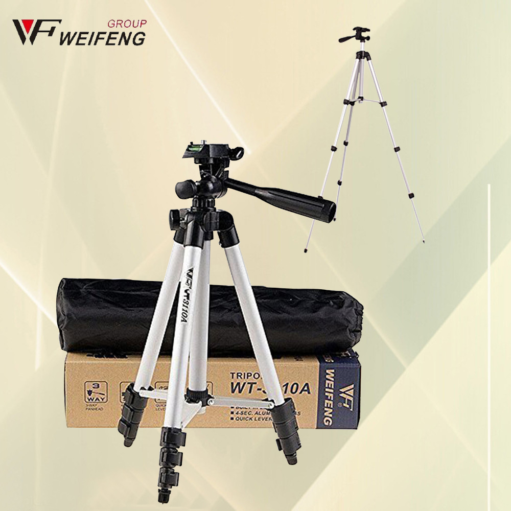 WEIFENG WT3110A Tripod With 3-Way Head Tripod Universal Camera Tripod For Canon Nikon D7100 D90 D3100 Sony Pentax DSLR WT-3110A(China (Mainland))