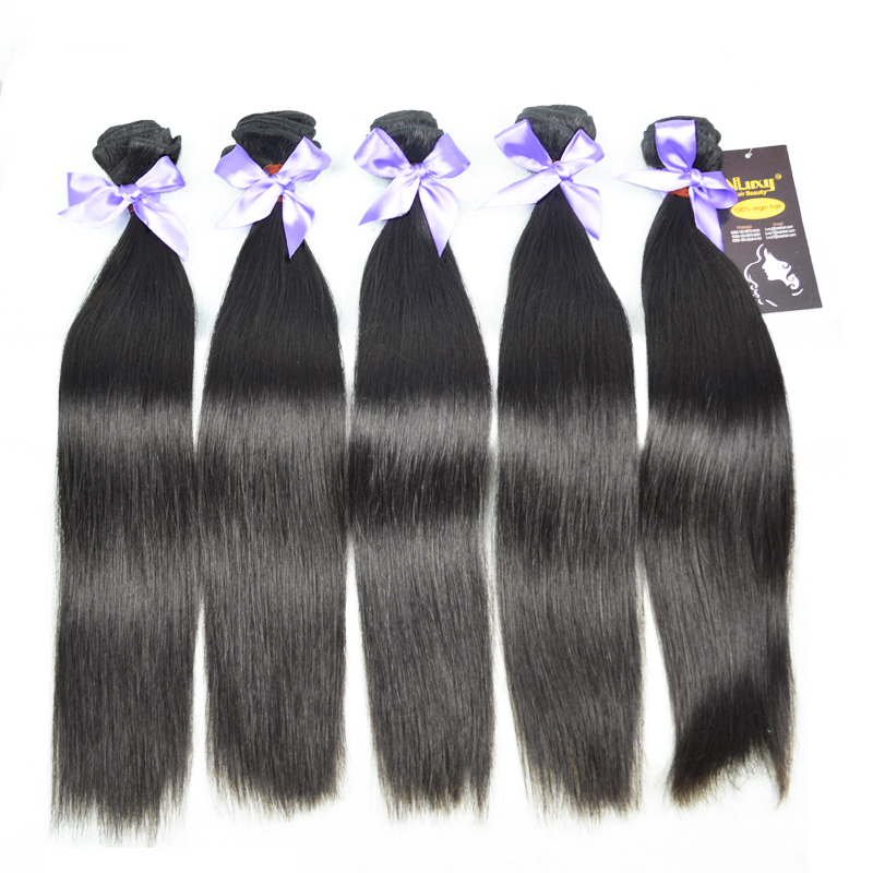 Virgin Hair extension, unprocessed Eurasian 7A quality straight hair,5pics/lot ,Wholesale price, LUXY BRAND China factory price(China (Mainland))