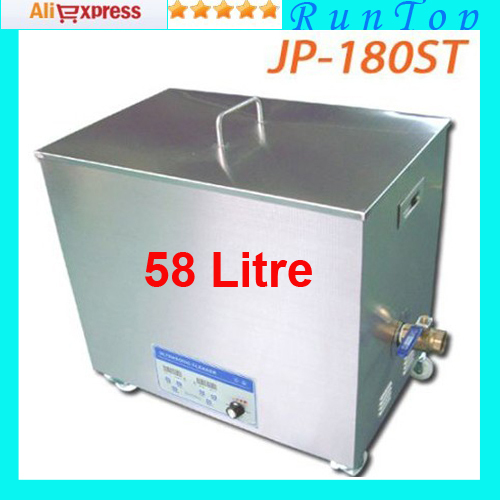 freeshipping 10V/220V JP-180ST 360-900W 58L Ultrasonic Cleaner Stainless Steel Cleaning Machine Ultrasonic Bath(China (Mainland))