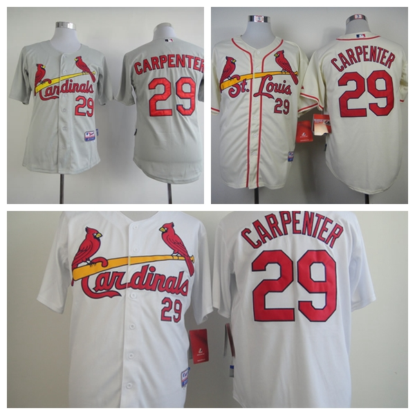 Top Quality Mens St. Louis Cardinals Jerseys #29 Chris Carpenter Baseball Jersey,All Name Number Stitched,Accept Mixed Orders