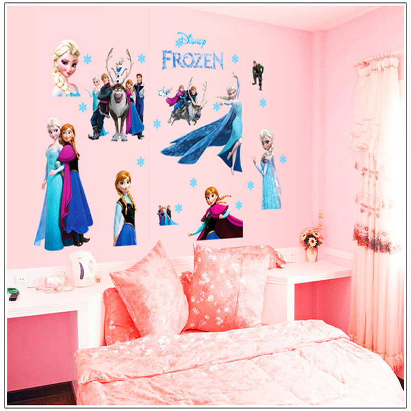 Animation Aisha Anne princess Wall Sticker For kids Room Children Removable Wallpaper Mural Decal Princess Wall Sticker For Girl(China (Mainland))