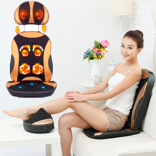 Free Shipping for Multi-function Massage Device Neck Massage Pad Chair Lumbar Massage Chair Heating Massage Equipment For Sale(China (Mainland))