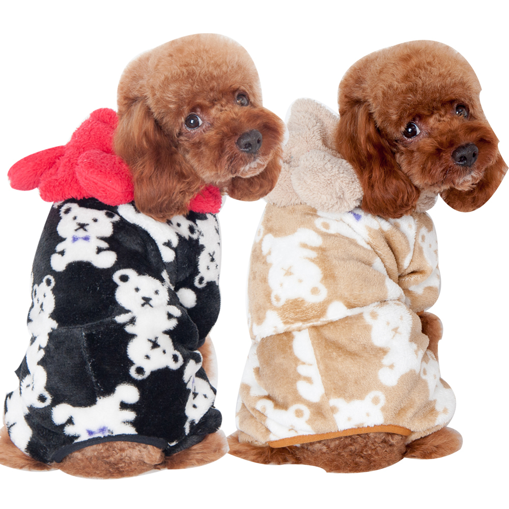 Hot Sale Dog Hoodie 100% Cotton Puppy Bear Print Dog Clothes Pet Hoodies Pet Products For Animals Small Dog Clothing(China (Mainland))