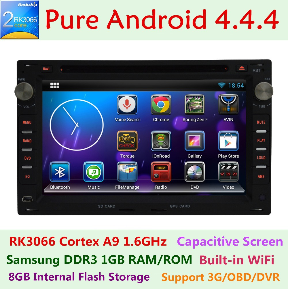 Pure Android 4.4.4 Car DVD Player Capacitive for VW Transporter T4 T5 multivan GOLF POLO PASSAT JETTA FOX Lupo 3G WIFI Radio(China (Mainland))