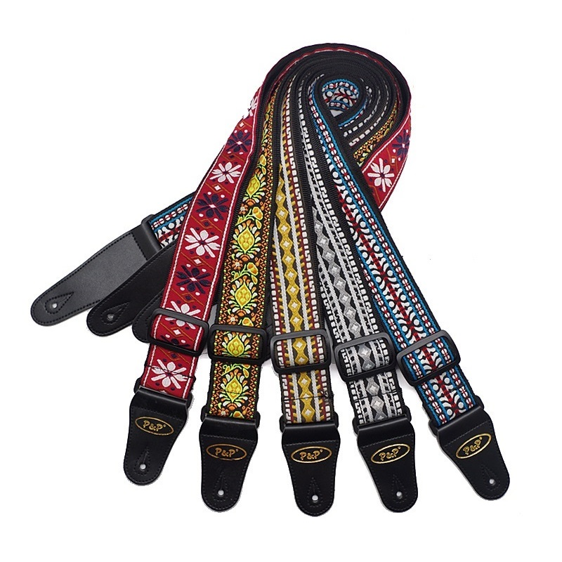 Free shipping High quality folk guitar guitar straps,classical national style embroidery, electric guitar straps(China (Mainland))