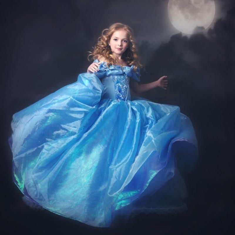 Fantasia Vestidos,2015 Children Kids Cosplay Dresses Rapunzel Costume Princess Wear Perform Clothes HOT Sale free shipping(China (Mainland))