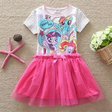 Girls Clothes! Children Clothing Kids Girl Dress New Dot My Little Ponys Cotton Dress Summer Girls Dresses Free Shipping B00018