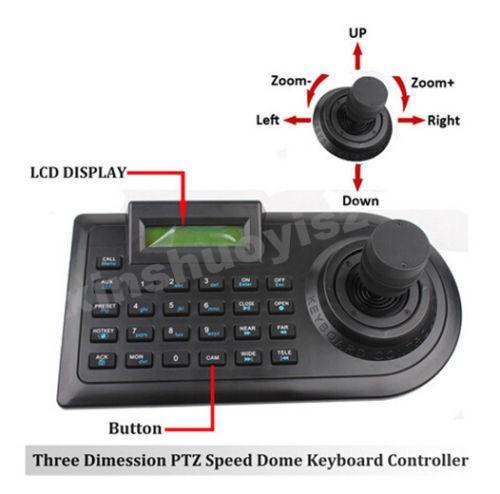 CCTV Joystick Analog Camera DVR PTZ Keyboard controller 3D RS485(China (Mainland))