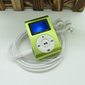 Sport MP3 Player with LCD Screen Metal Mini Clip MP3 Music Player Earphones USB Cable with