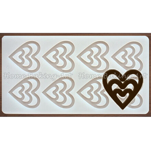 Free shipping heart by heart shaped silicone chocolate molds,candy moulds,cake decorating tools(China (Mainland))