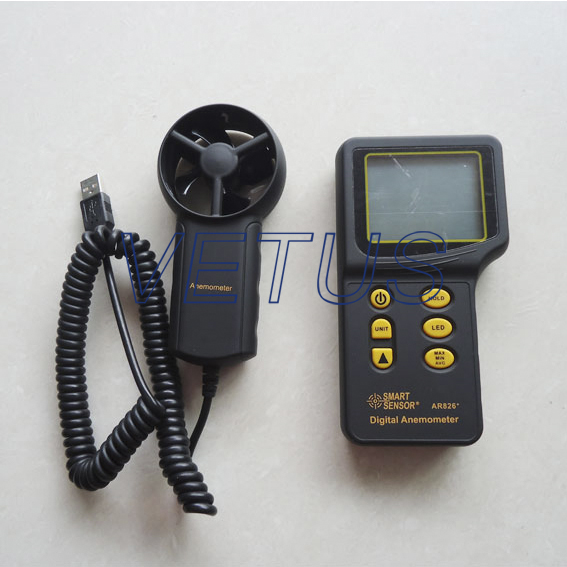 Фотография AR826 Digital Anemometer with measuring range 0~45m/s
