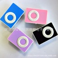 Wholesale Round Button Sport Mini Music Mp3 Player with TF Slot For Running and Leisure