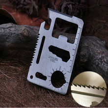 1 pcs  Camping Multipurpose tool 11 in 1 Multifunction Card Knife,Pocket Survival Tool Outdoor Survivin knife,Free shipping(China (Mainland))