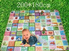 200*180*,Multifunctional Baby Foam Fruit Letter Play Crawling Carpet Game & Outdoor Picnic Floor Mat Blanket Pad(China (Mainland))