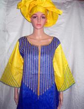 2015 nouvelle conception de la mode africaine bazin riche broderie robe(China (Mainland))