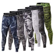Uomini pelli camouflage pantaloni collant da corsa camo rapida dry base layer compressione esterna fitness pantaloni da jogging in esecuzione di abbigliamento(China (Mainland))