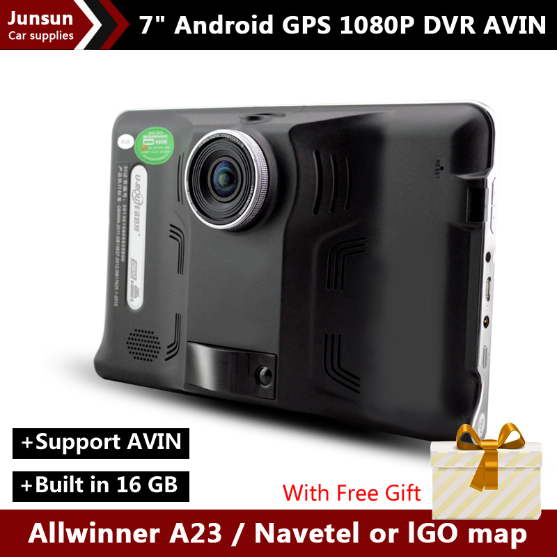 7 inch Car GPS Navigation Android Car DVR Recorder camera tablet pc FM WIFI AVIN vehicle gps Built in 16GB Navitel or Europe map(China (Mainland))