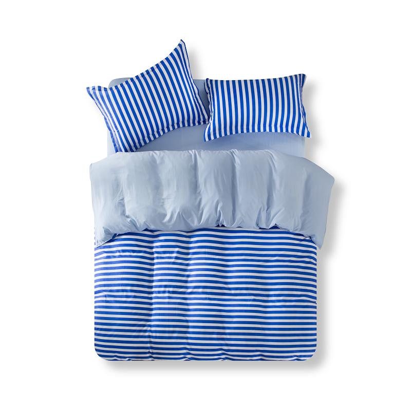 Fashion Striped Duvet Cover Sets Bedding Set 3/4pcs Quality Bed Linen Bed Sheet Pillowcases Bed Clothes Twin Queen King Size(China (Mainland))