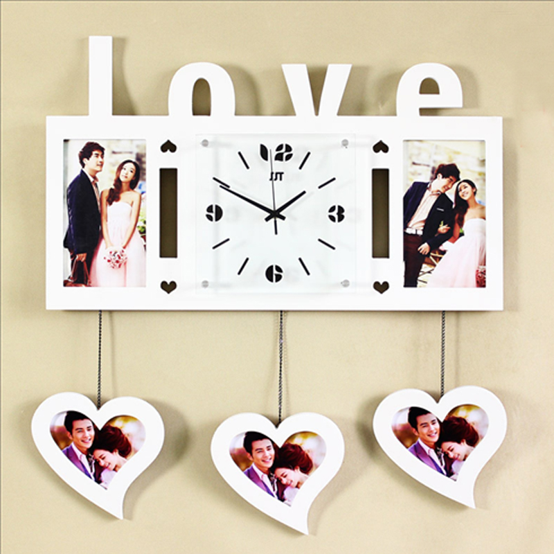 picture frames fashion creative photo frame wall clock in wall clocks