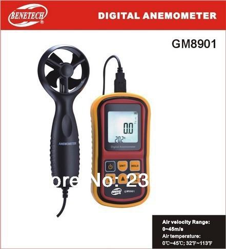 Free shipping Anemometer thermometer GM8901 supernova sale