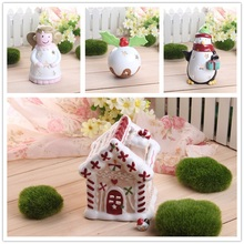 Ceramic Christmas Candle Holder Candlestick Angel Villa  Penguin Snowball Styles Christmas Decoration for Home(China (Mainland))