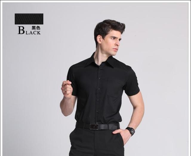 Plus Size Men 39 S Short Sleeve Button Down Collar Cotton