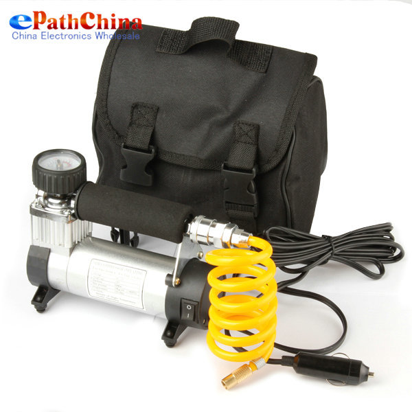 [Sale] YD-3035 Portable Super Flow 12V 100PSI Car Pump Air Compressor/ Auto Electric Tire Inflator, Free Shipping(China (Mainland))