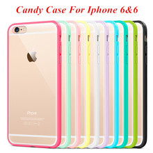 Mat PC + TPU Clear Case For Iphone 6 6s Cover Transparent Back Phone Shell for iphone 6 Plus 6s plus Crystal Style Only $0.98(China (Mainland))