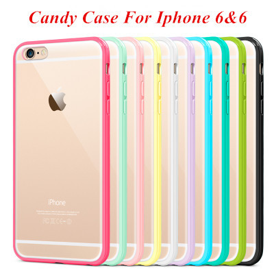 Mat PC + TPU Clear Case For Iphone 6 4.7' Cover Transparent Back Phone Shell for iphone 6 Plus 5.5 Inch Crystal Style Only $0.98(China (Mainland))