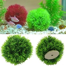 Free shipping Artificial Aquatic Plastic Plants Aquarium Grass Ball Fish Tank Ornament Decor(China (Mainland))