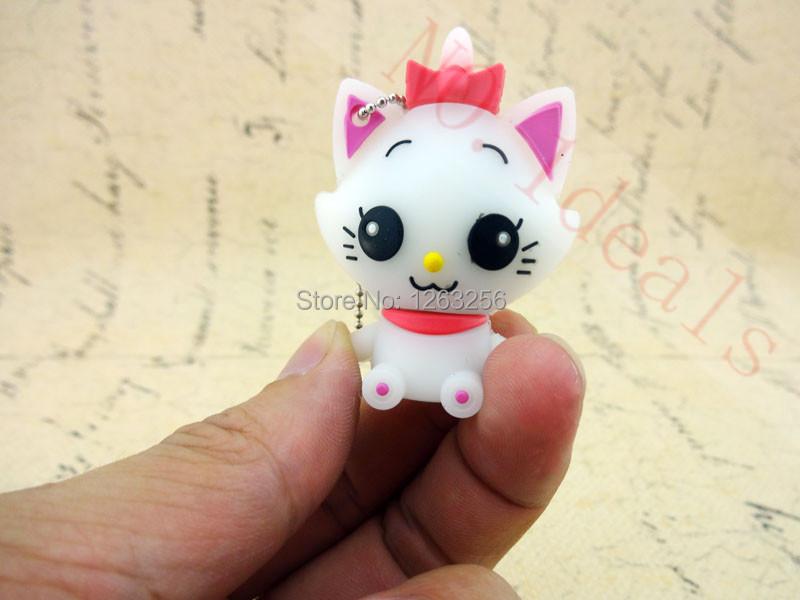 Free shipping fashion Cat USB Flash Drive 8GB 16GB 32GB Flash Memory Stick Pen Drive Disk for Laptop Computer(China (Mainland))