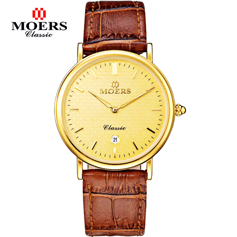 Relogio Masculino Men 2016 Fashion Quartz Watch Casual Watches Luxury Brand Moers Leather Strap Gold Military - iWatches store