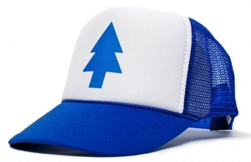New Curved Bill BLUE PINE TREE Dipper Gravity Falls Cartoon Hat Cap Trucker Free Shipping H00001(China (Mainland))