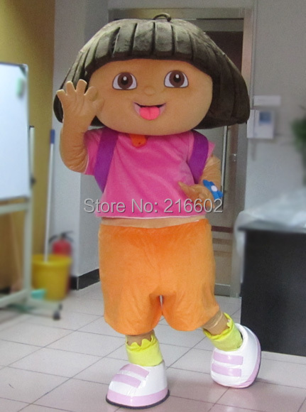 High quality of DORA the explorer adult costume love expeditionary DORA mascot costume plush cartoon Free shipping(China (Mainland))