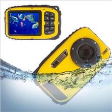 Hot 2.7inch LCD Anti-shake Cameras 16MP Digital Camera Underwater 10m Waterproof Camera+ 8X Zoom Video Camcorde Free Shipping(China (Mainland))