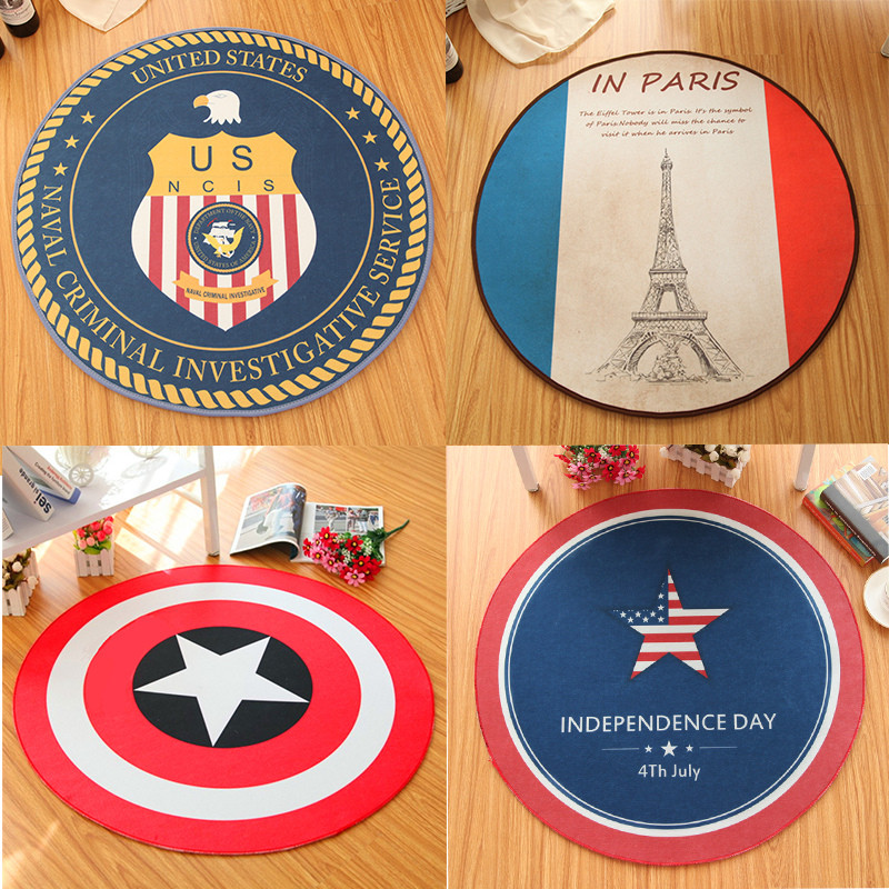 1Pcs Fashion Aspiration Non-slip Round children's cartoon carpet Living room/bedroom/cloakroom/hanging basket/computer chair mat(China (Mainland))