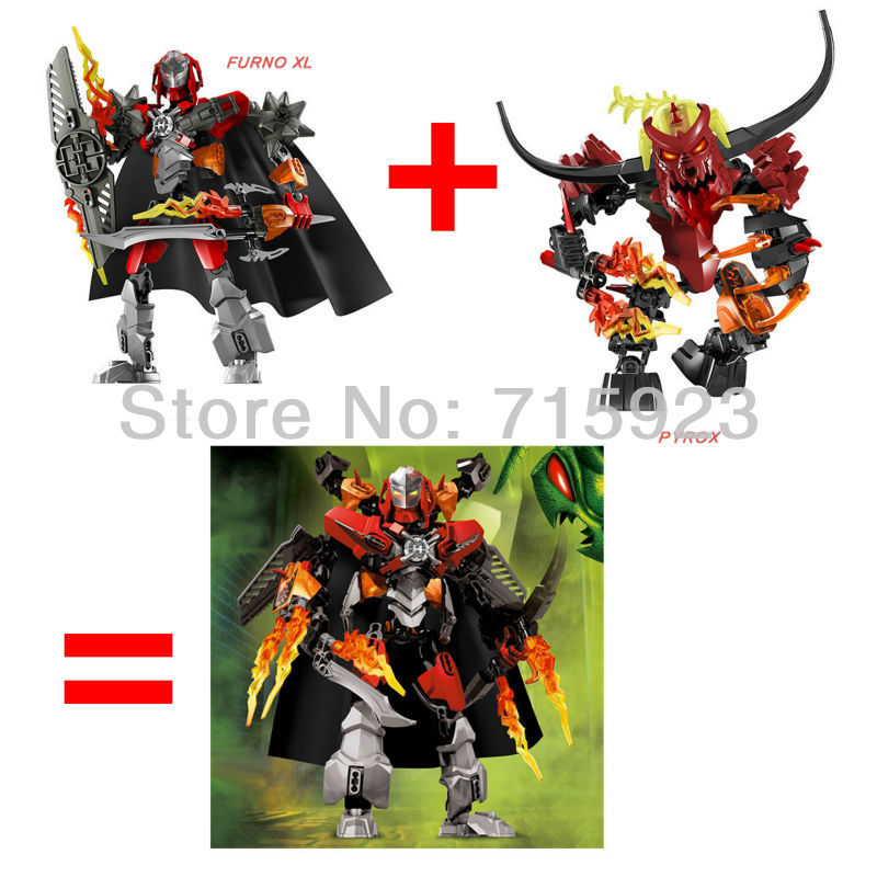 2014 NEW 2X Freeshipping STAR SOLDIER Hero Factory 5.0  Furno XL  and PYROX building blocks kids robot toys<br><br>Aliexpress