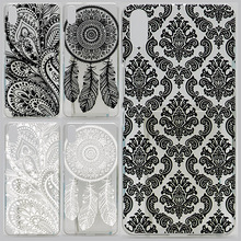 Case For BQ Aquaris X5 Black White Texture Hollow Out Design Transparent Printing Drawing Cover For BQ X5 Plastic Hard Cases