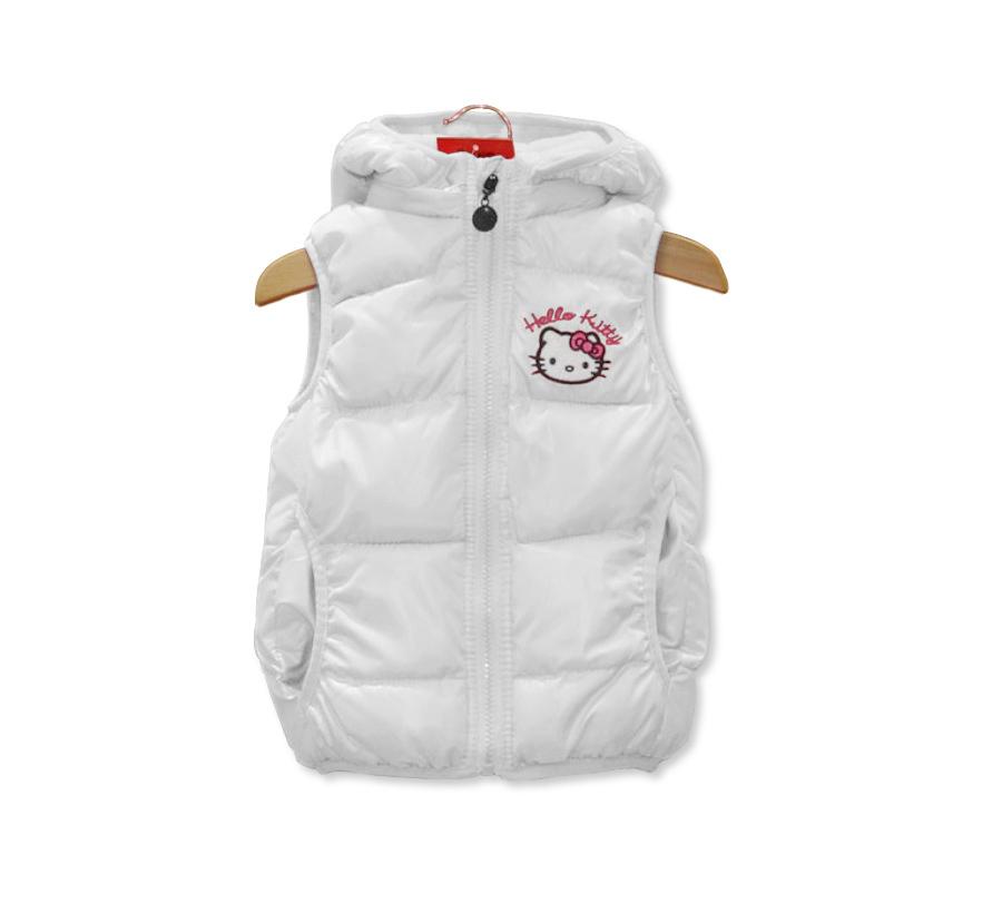Retail 2015 New children outerwear coats,girls winter vest & coat,hello kitty hoodies vest waistcoat & jacket,kids clothing(China (Mainland))