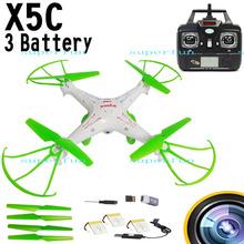 3 Batteries Upgrade Green Syma X5C 2.4Ghz 6-Axis Gyro RC Quadcopter Drone W/ 2MP HD Camera RTF