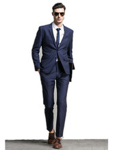 Elegant man suits groom/groomsman suits business wear slim man party formal dress Office Party suit (jacket+pants+tie