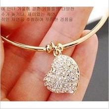 wholesale heart bracelets silver